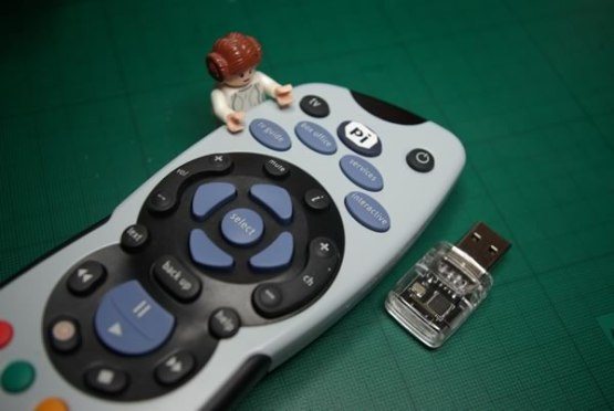 SKY remote being used as a Pi remote