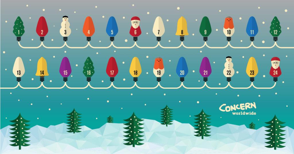 Concern Advent Calendar designed by Robert Fiszer