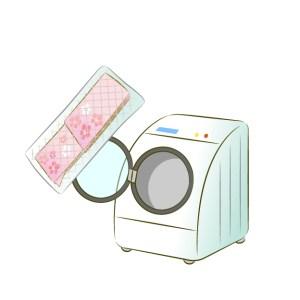 洗濯機に入れた着物のイラスト