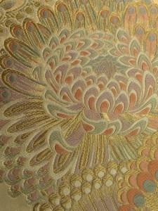 秦生の帯 菊柄
