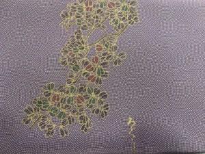 八掛の花柄アップ