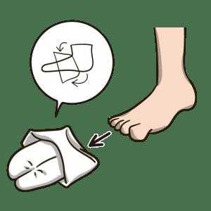 着物の足袋の履き方