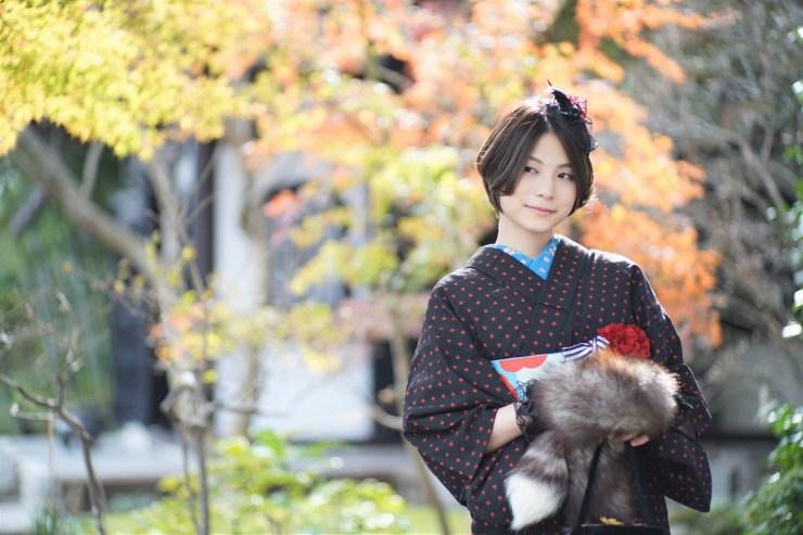 鎌倉花のんの冬コーデ