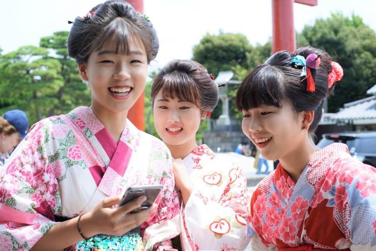 鎌倉花のん 浴衣と日本髪
