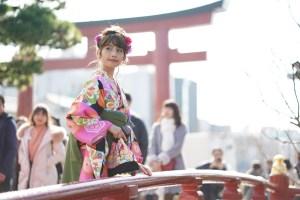 鎌倉 初詣 袴スタイル