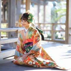 鎌倉 振袖 写真 鶴岡八幡宮