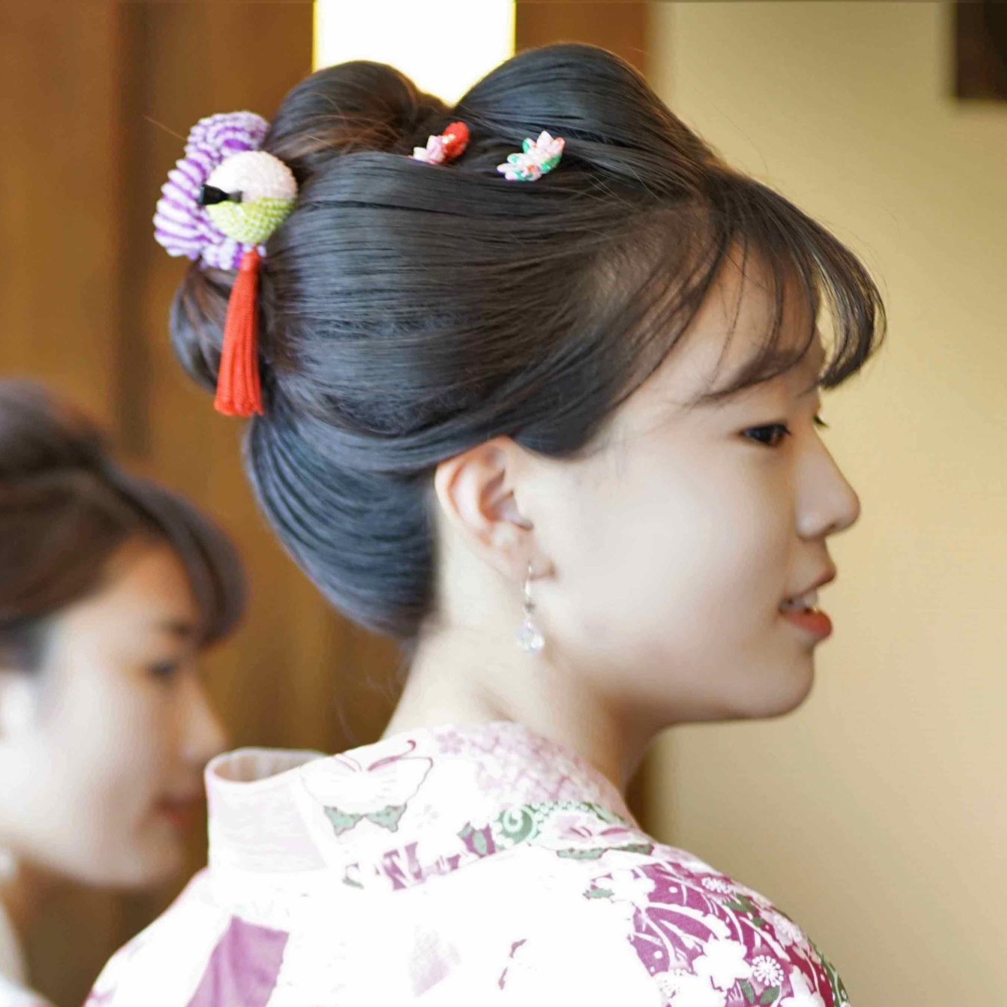 鎌倉 花のん 浴衣と日本髪は女子の憧れ