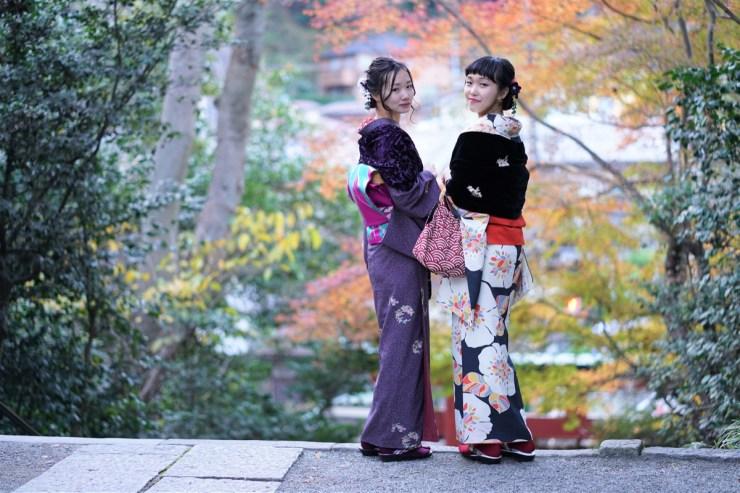 鎌倉の秋 着物コーデ