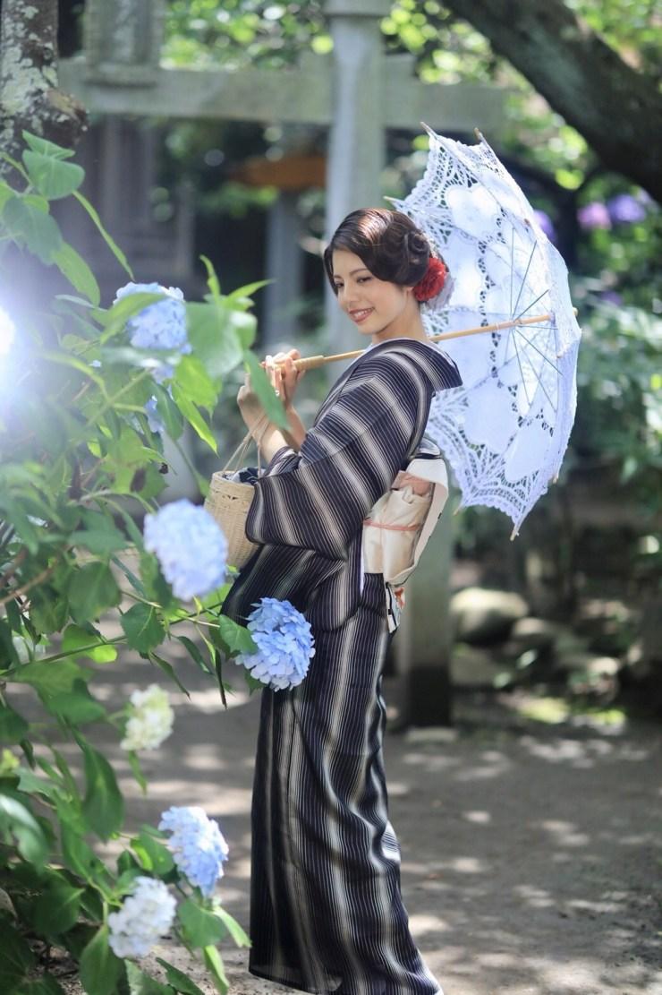 鎌倉花のん 夏着物