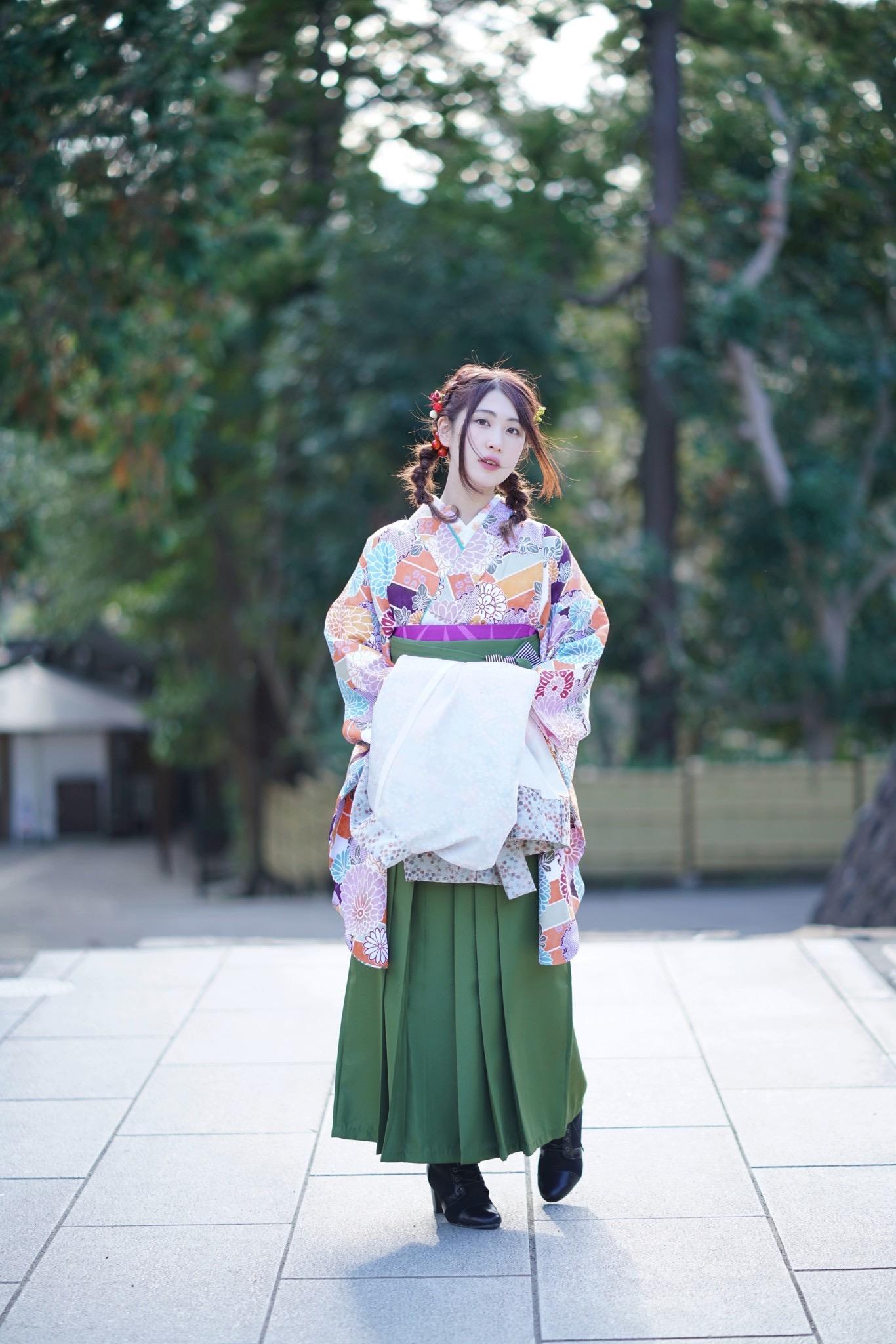 鎌倉着物レンタル花のん 卒業 袴スタイル