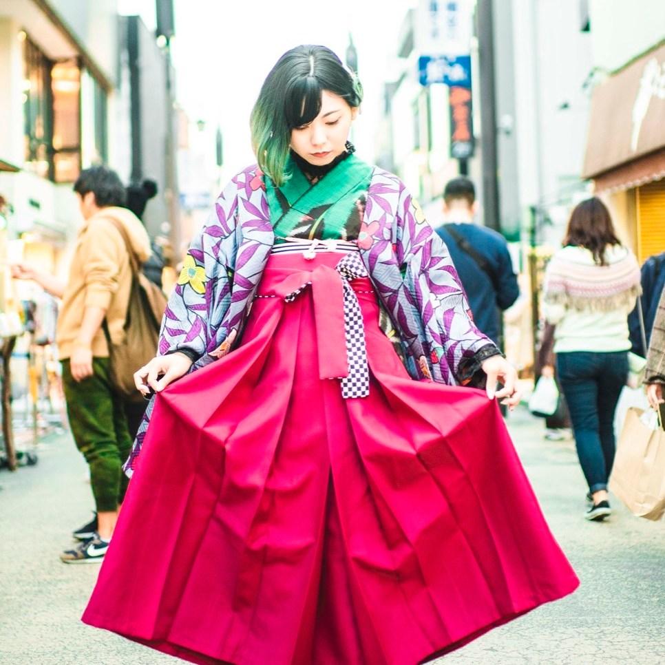 鎌倉着物レンタル花のん 袴スタイル