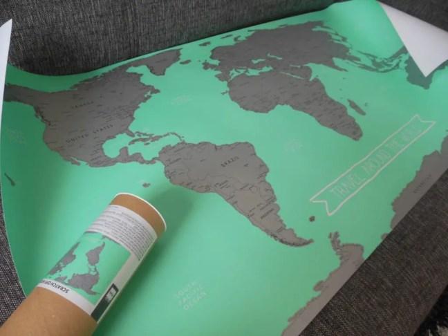 HEMA wereldkaart met kraslaag