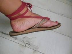 Slippers met veter