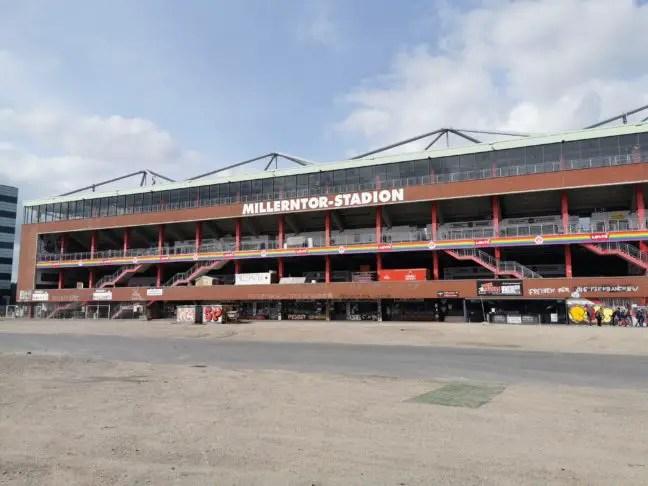 Achterkant St. Pauli stadion
