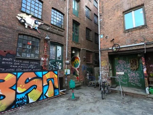Streetart in het Gängeviertel