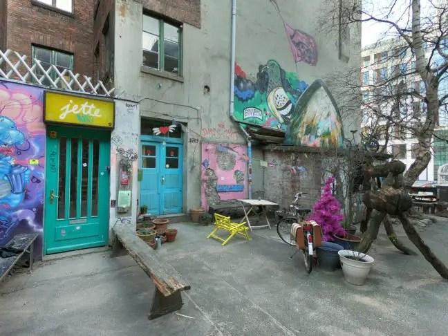 Ateliers van kunstenaars in het Gängeviertel