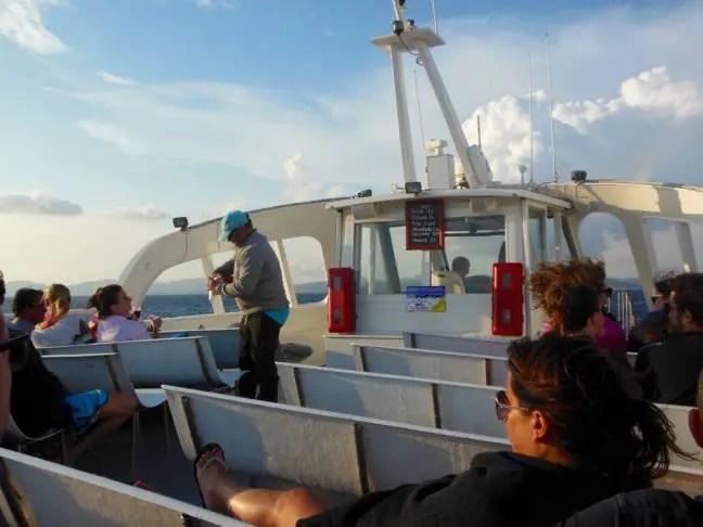 Sangria op de Aquabus boot terug naar Ibiza.
