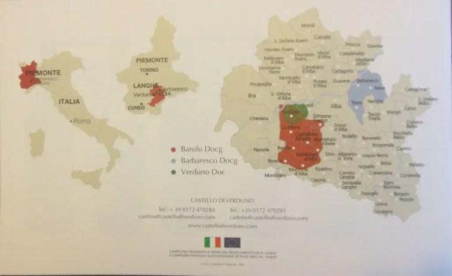 kaartje wijngebieden piemonte