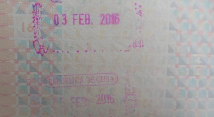 paspoortstempel Cuba
