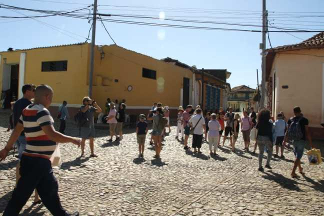 Ontwijk de toeristen in Trinidad, Cuba