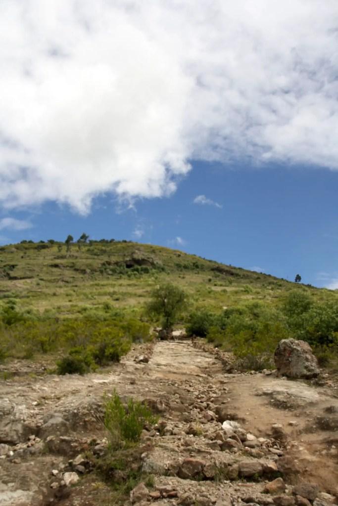 weg naar Pikimachay Peru