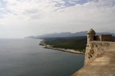 uitzicht Castillo de San Pedro de la Roca del Morro
