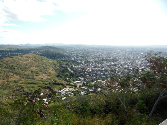 Uitzicht bij La Loma de la Cruz
