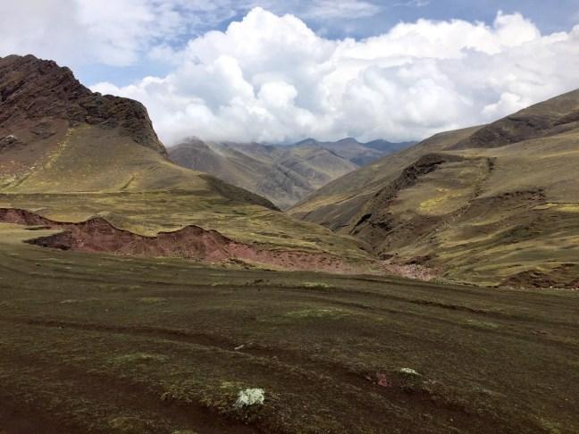 Landschap bij Rainbow Mountain