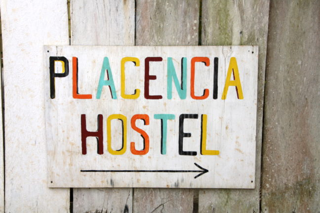 Placencia Hostel in Belize.