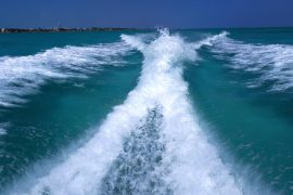Boot Belize, water, varen