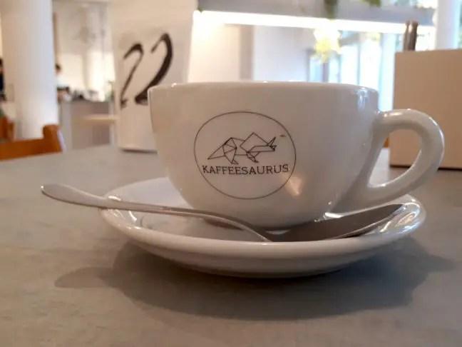 Koffie uit eigen branderij bij Kaffeesaurus