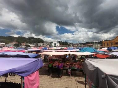 De markt van San Juan Chamula.