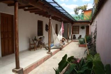 De binnentuin van Casa Azabache