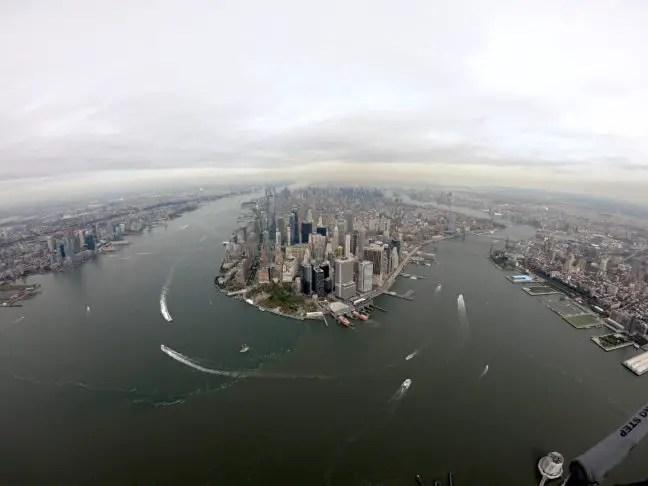 Manhattan, New York, vanuit de helikopter.