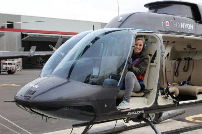 Even voorin de helikopter zitten hoor...