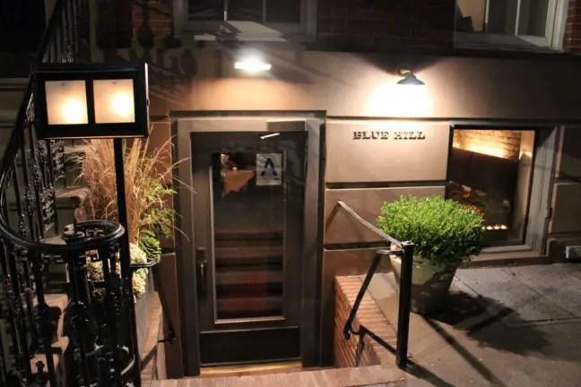 Entree Blue Hill restaurant in New York