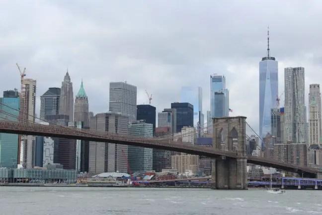 Manhattan vanaf DUMBO gezien.