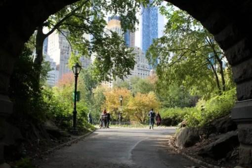 Onder de tunnel door, Central Park in