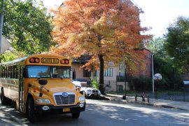 Schoolbus in Brooklyn, New York.