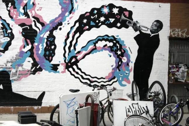 Graffiti in Williamsburg, Brooklyn.