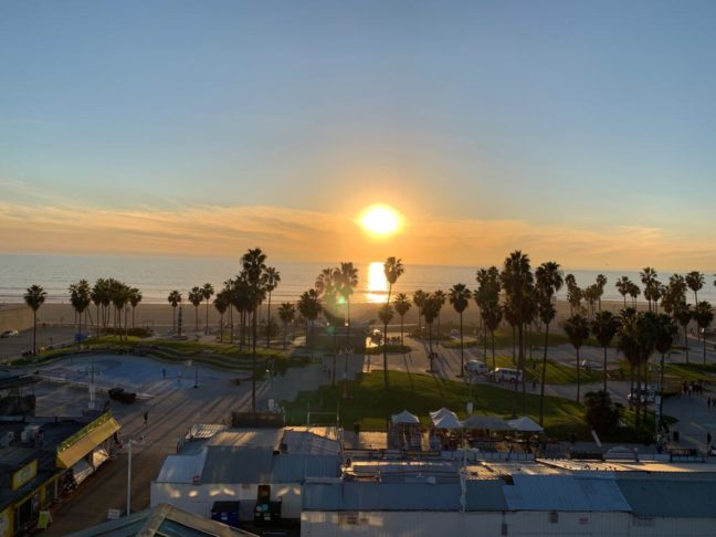 Uitzicht vanaf de High Lounge, Hotel Erwin.