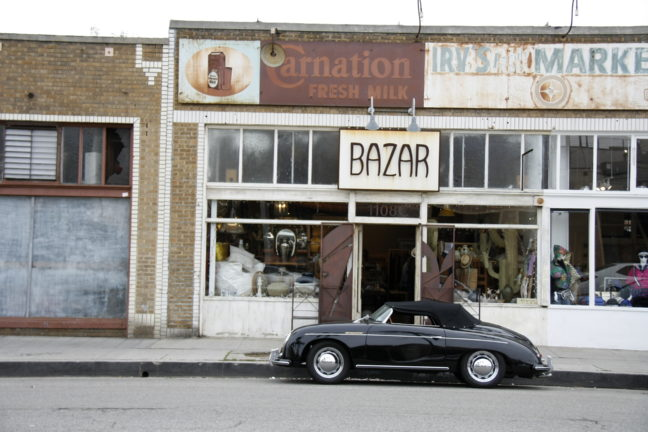 Vintage Winkels aan de Abbot Kinney Boulevard in Venice, L.A.