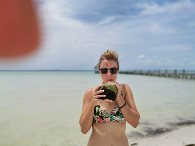 Verse kokosnoot op Isla Holbox
