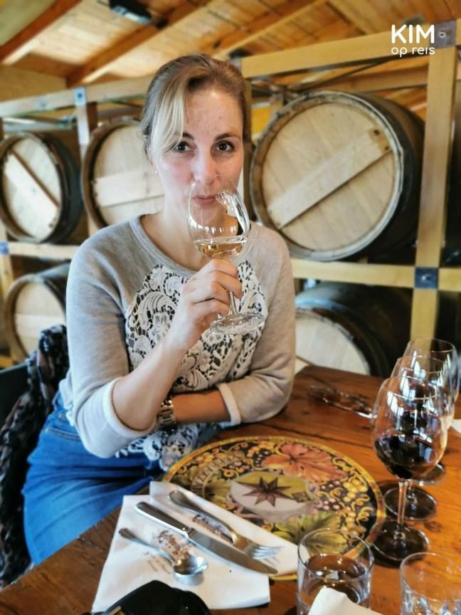 Wijn proeven in Chianti, Toscane