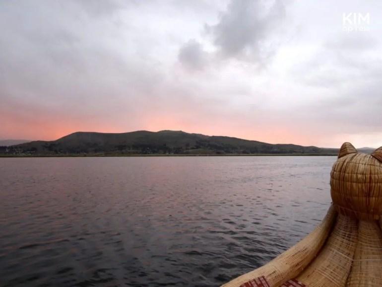 Zonsondergang Uros eilanden