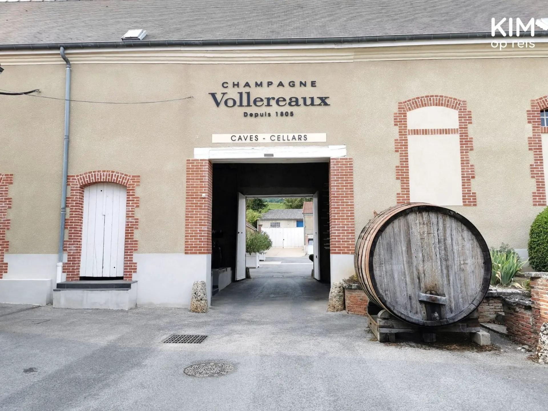 Entree Vollereaux: poort naar de ingang van de kelders