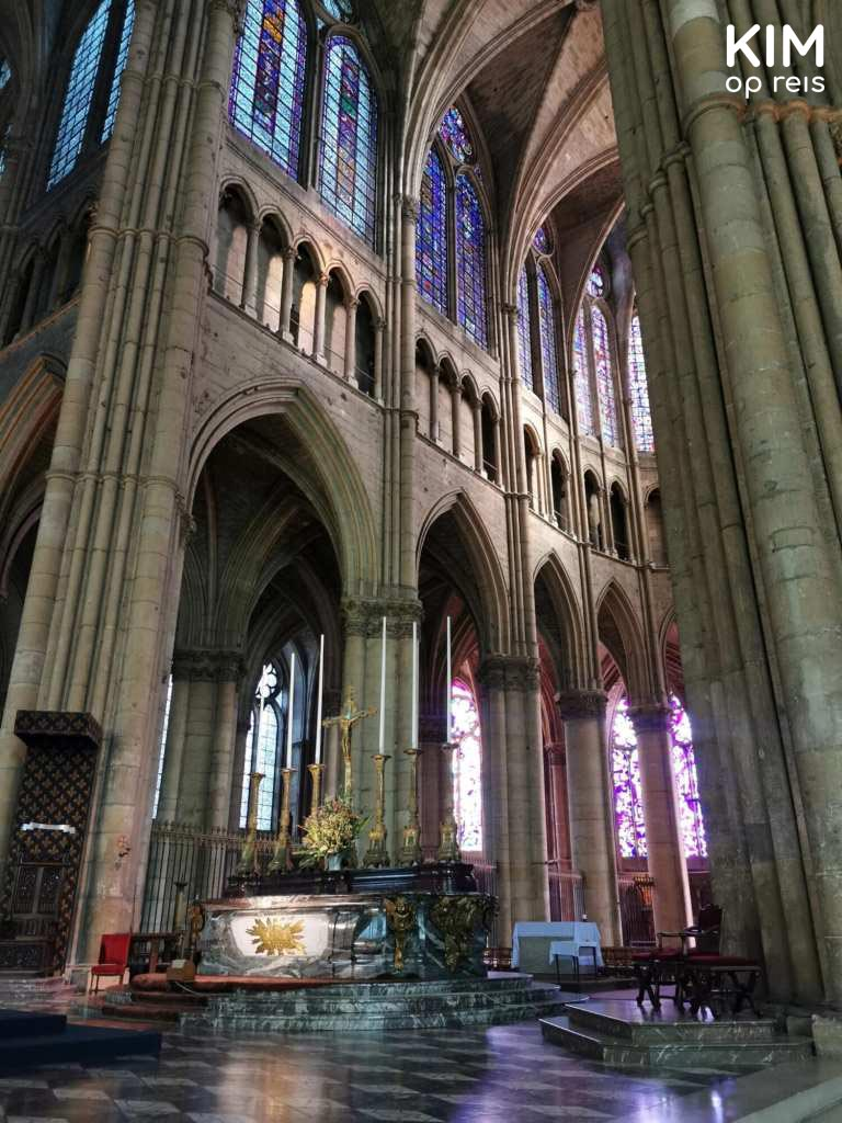 Binnenkant Notre-Dame Reims