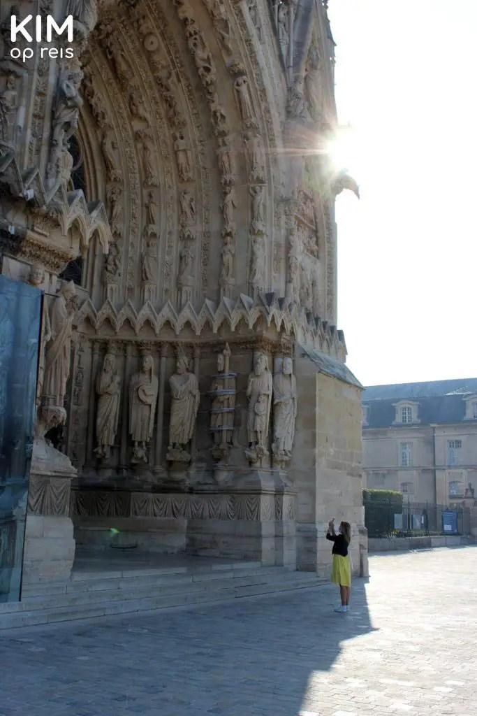 Foto maken van de kathedraal van Reims