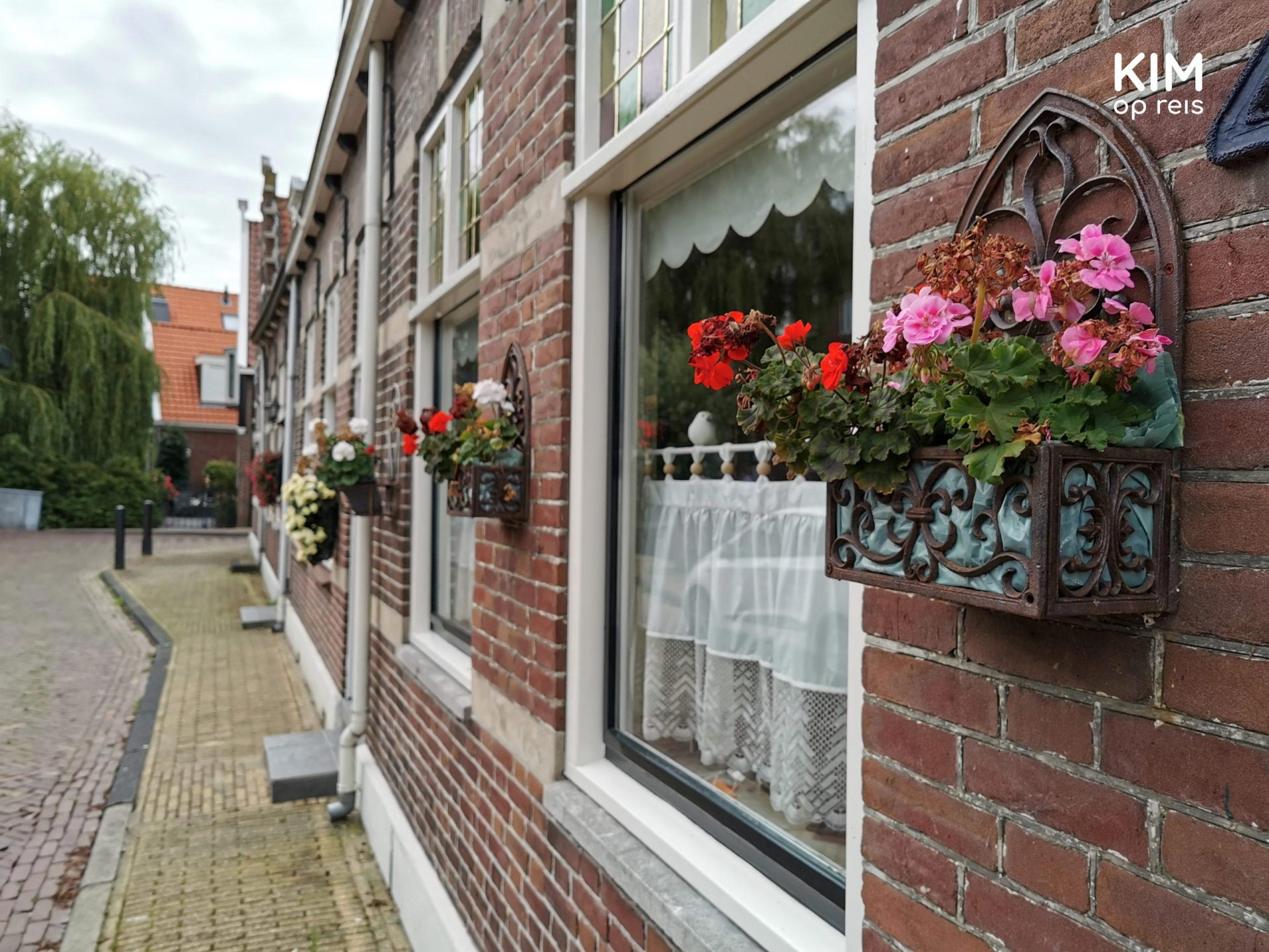 Visit Volendam - terraced houses with flowers on the wall