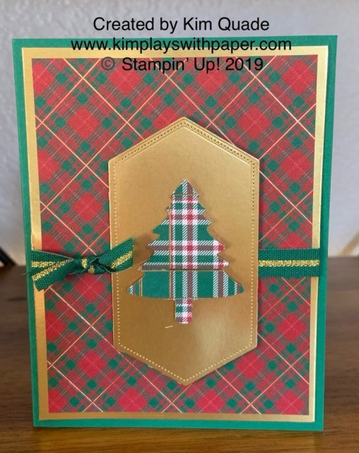 Stampin' Up! Perfectly Plaid and Wrapped in Plaid Designer Series Specialty Paper